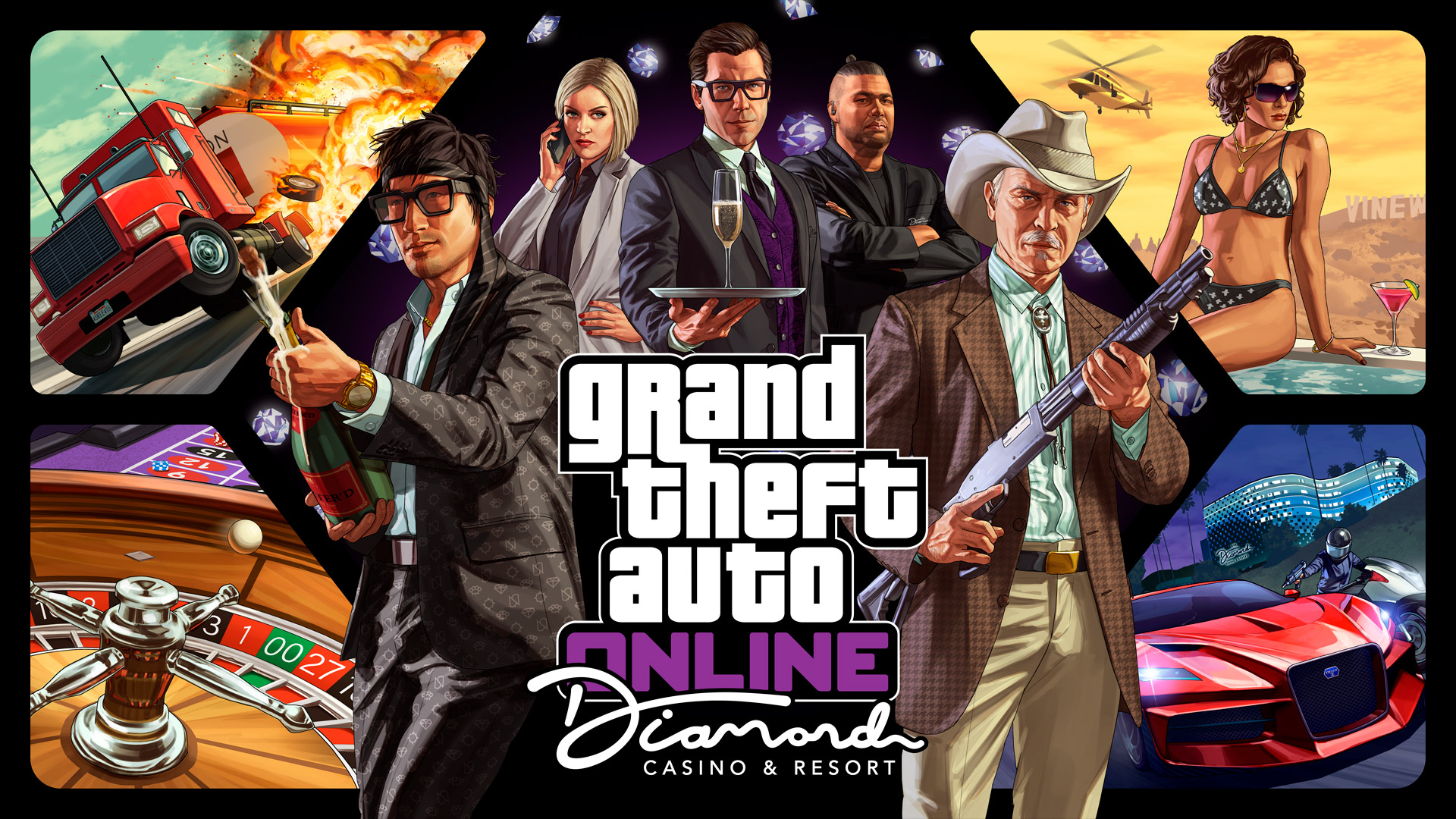 Патч версии 1.0.1734.0 «Казино-отель Diamond» для GTA Online на ПК