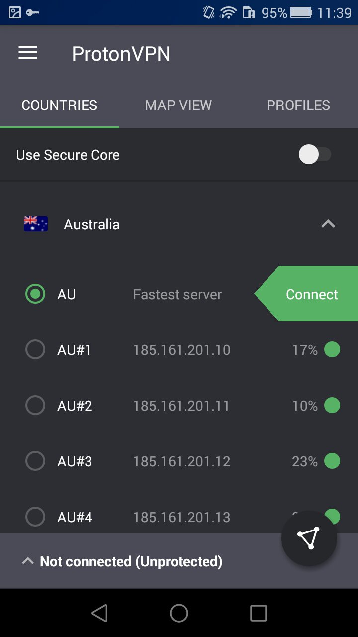 Android ProtonVPN