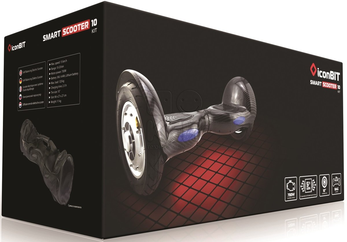iconBIT Smart Scooter Kit Black (SD-0012K)