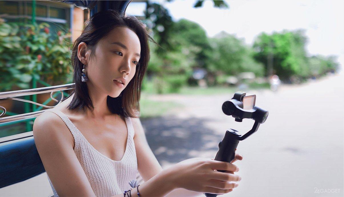Девушка с экшен-камерой
