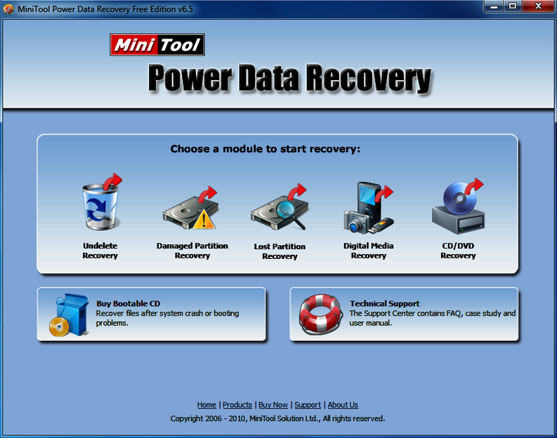 MiniTool Power Data Recovery Free