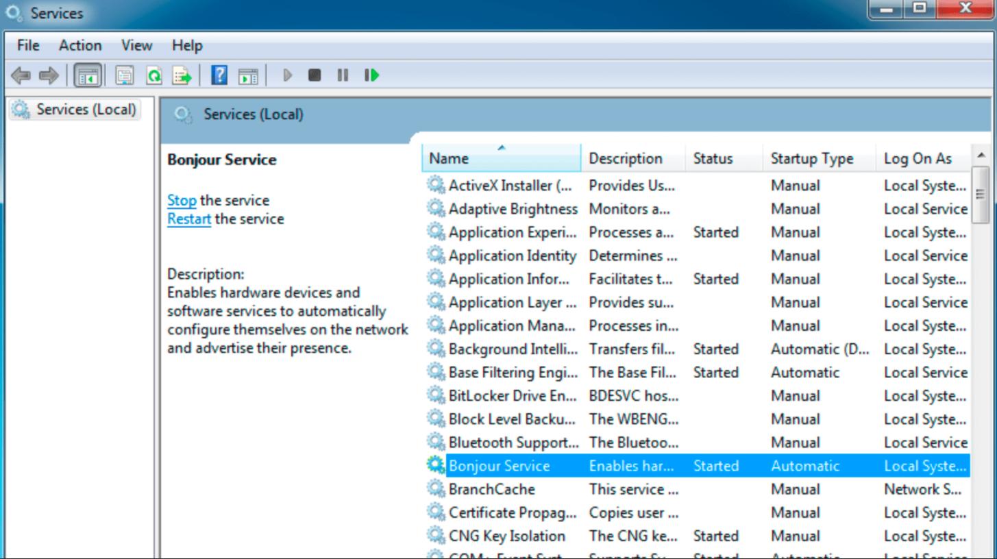 Bonjour - Что это за программа в Windows